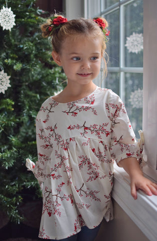 Blu Christmas Cardinals Lydia Dress