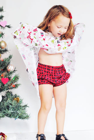 Christmas Buffalo Plaid Bloomers