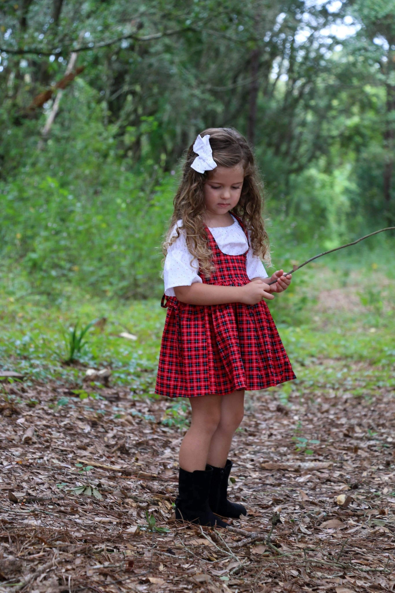 Christmas Plaid Sadie Skirt