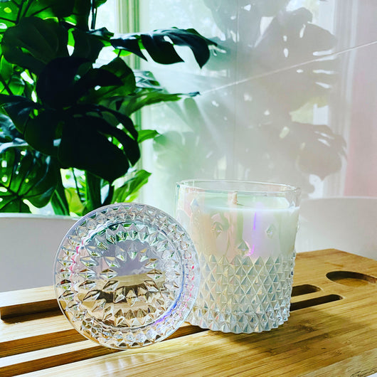 Soy Candle - Stud Crystal Pearl - Delishause