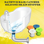 Bathtub Hair Catcher - Silicone Drain Stopper