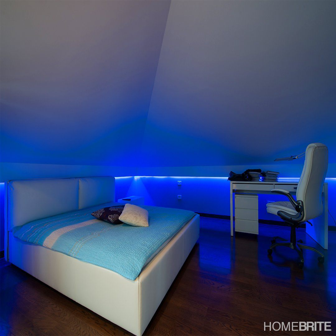 Homebrite Color Changing Led Strip With Remote Control 5 Meters Used To Create Changes Using 4 Bright S Mounted In Corners