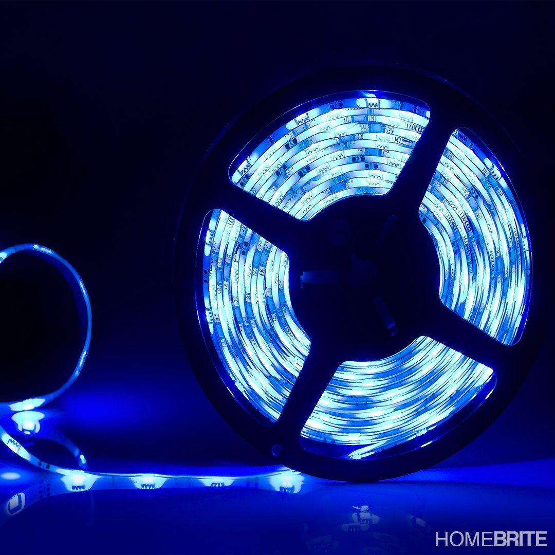 Homebrite color changing led strip with remote control 5 meters homebrite color changing led strip with remote control 5 meters mozeypictures Choice Image