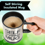 Self-Stirring Insulated Mug