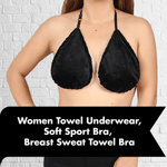 Women Towel Underwear, Soft Sport Bra, Breast Sweat Towel Bra