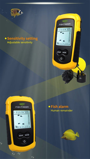 Pocket Portable LCD Fish Finder