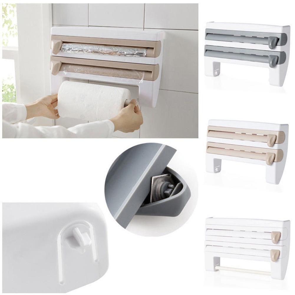 3 IN 1 Mounted Kitchen Roll Dispenser