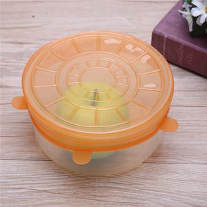 Universal Silicone Suction Lid 6pcs/set