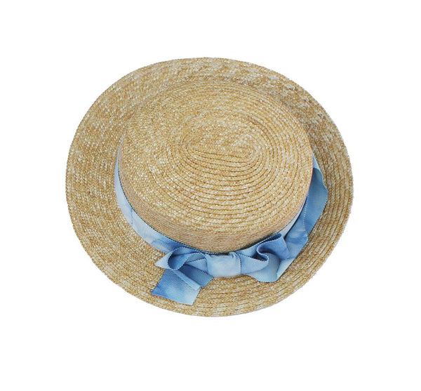 Mimisol Blue Bow Straw Hat