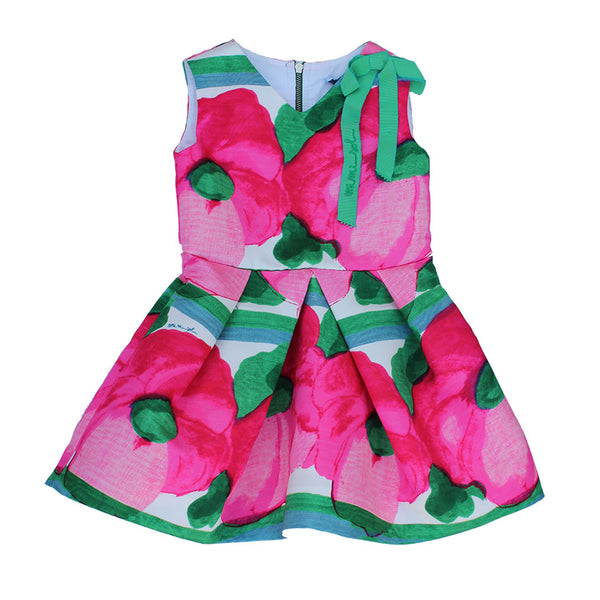 Mimisol Poppy Dress with Bow