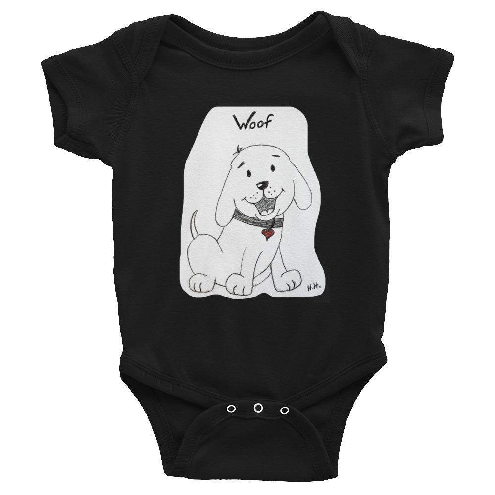 Baby Infant Onesie Romper Bodysuit - Doggie Woof-Baby - Infant-HRH Studio Boutique