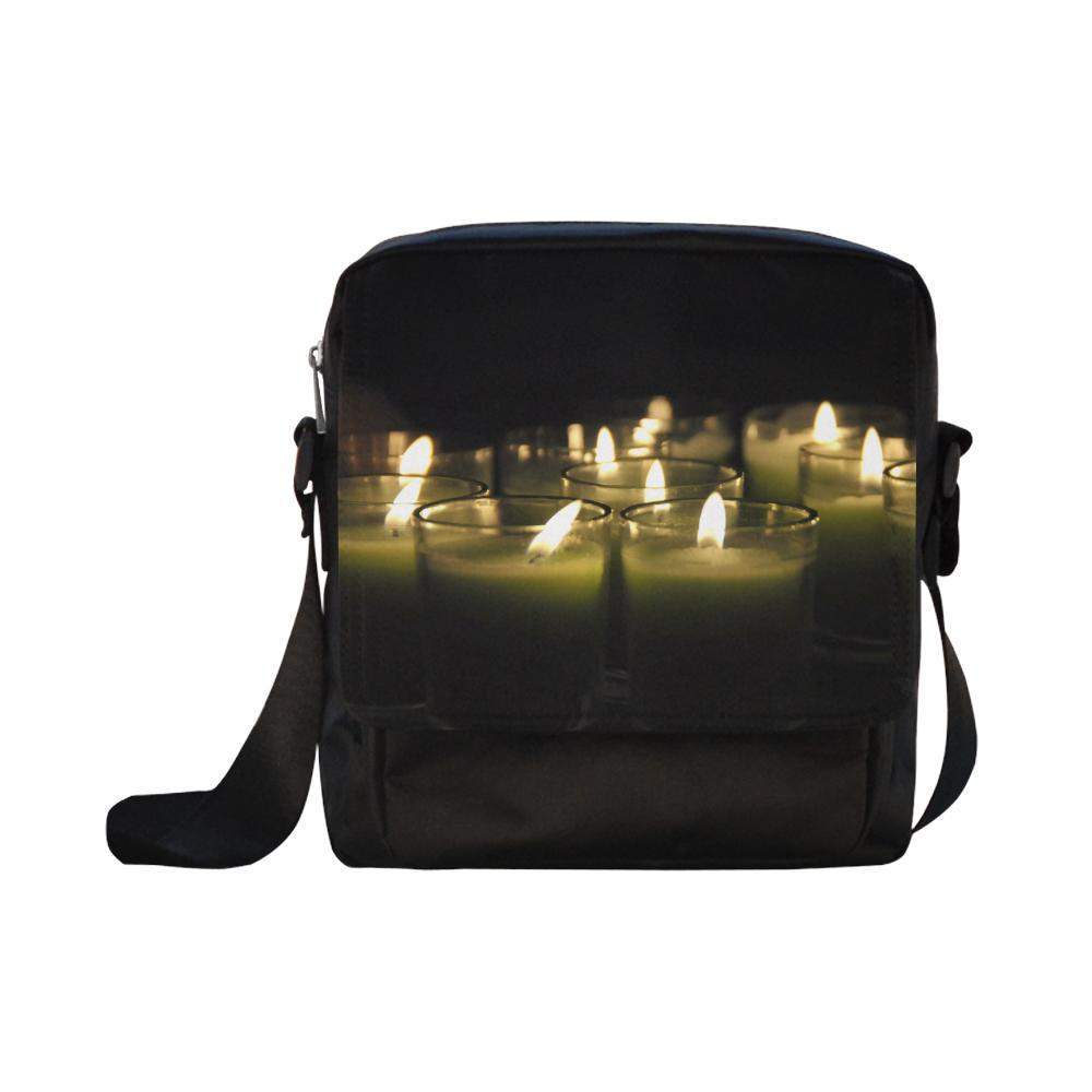 Believe Candles Crossbody Nylon Bags (Model 1633) Crossbody Bags (1633)- HRH Studio Boutique