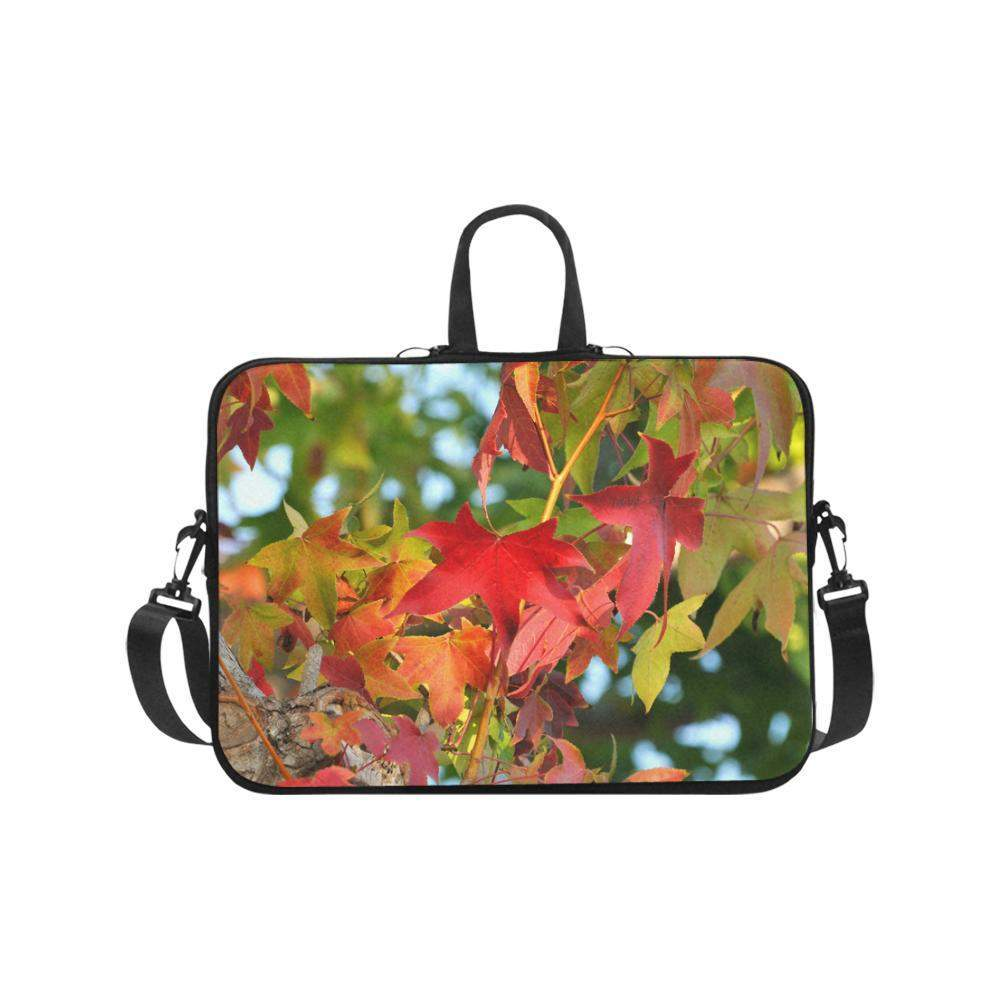 "Colorful Leaves Laptop Handbags 17""-Laptop Handbags 17""-HRH Studio Boutique"