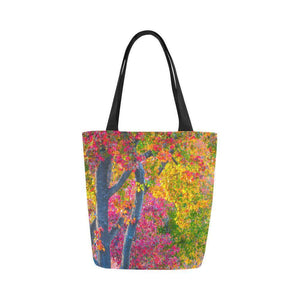 Fall beauty Canvas Tote Bag (Model 1657)-Color Leaves Tote Canvas-HRH Studio Boutique