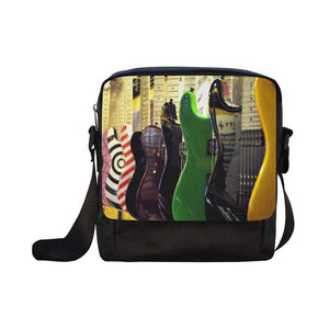 Guitars Rock! Crossbody Nylon Bags (Model 1633)-Crossbody Bags (1633)-HRH Studio Boutique