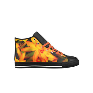 Hawt Orange Aquila High Top Microfiber Leather Women's Shoes (Model 027)-Sneaker, Shoes, Aquila Leather Casual Shoes (027)-HRH Studio Boutique