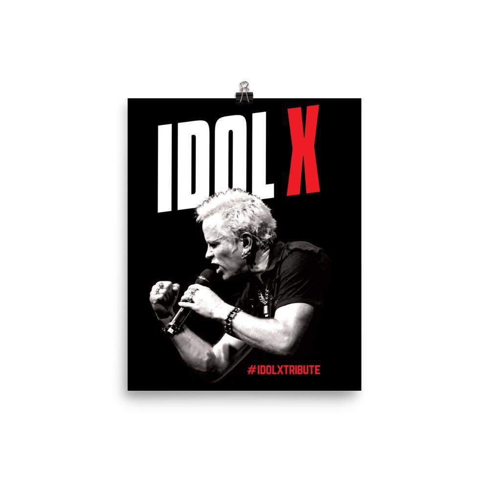 IDOL X POSTER - Billy Idol - Tribute Band.   The Best around! - Picture and Posters - Choice of Sizes-Poster-HRH Studio Boutique