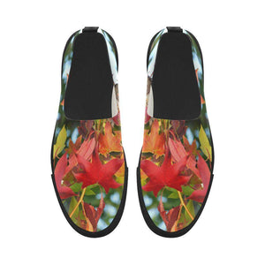 Leaves Slip ons Apus Slip-on Microfiber Women's Shoes (Model 021)-Apus Slip-on Microfiber Shoes (021)-HRH Studio Boutique