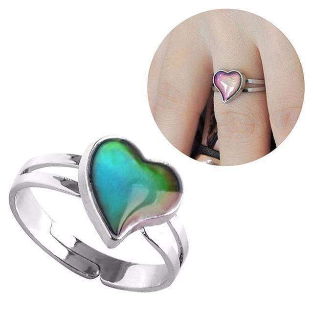MOOD RING- Heart shape RING- HRH Studio Boutique
