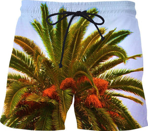 Palm Swim Trunks-Swim Shorts-HRH Studio Boutique
