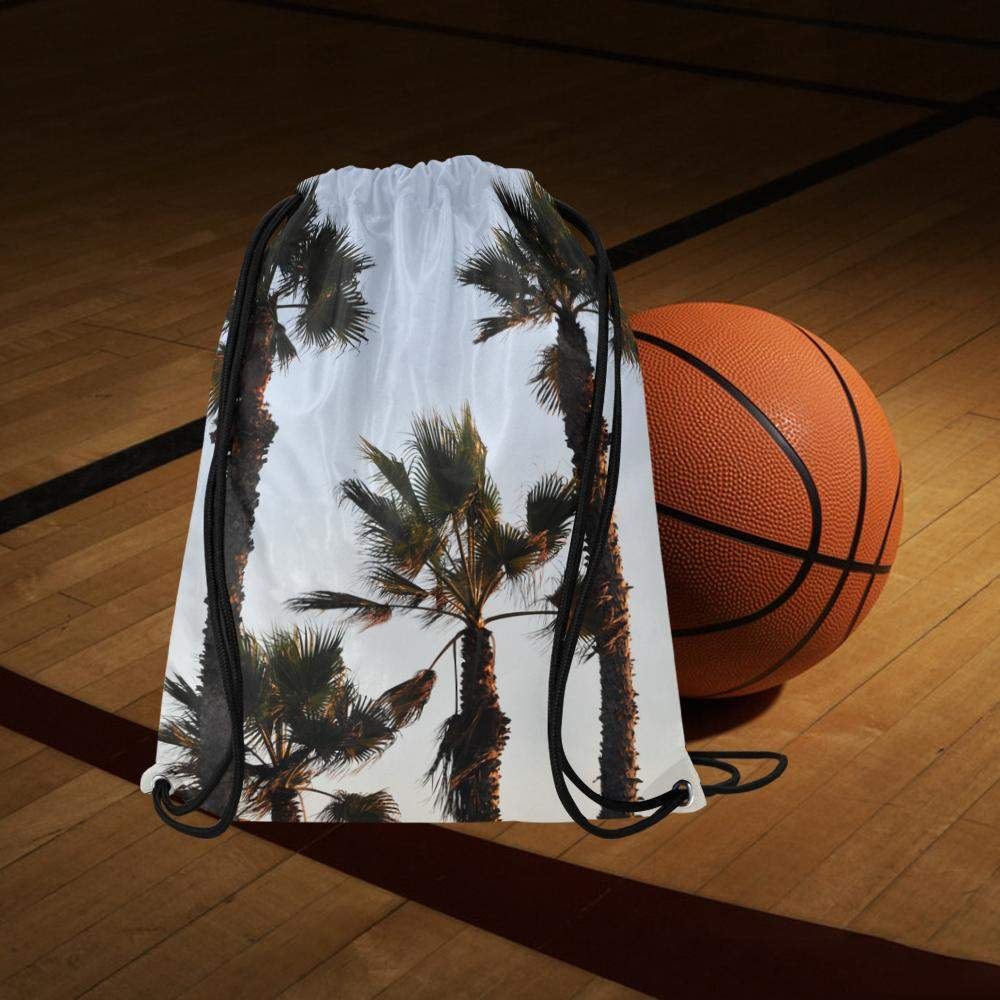Palm Tree Drawstring Bag/Backpack Model 1604 (Twin Sides) 16.5