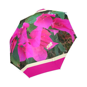 Palms springs fuchias umbrella Foldable Umbrella-Foldable Umbrella-HRH Studio Boutique