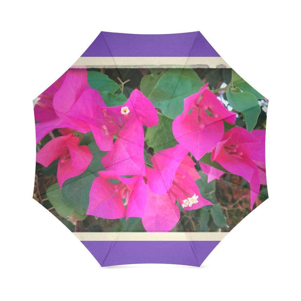 Palms springs fuchias umbrella Purple Foldable Umbrella-Foldable Umbrella-HRH Studio Boutique