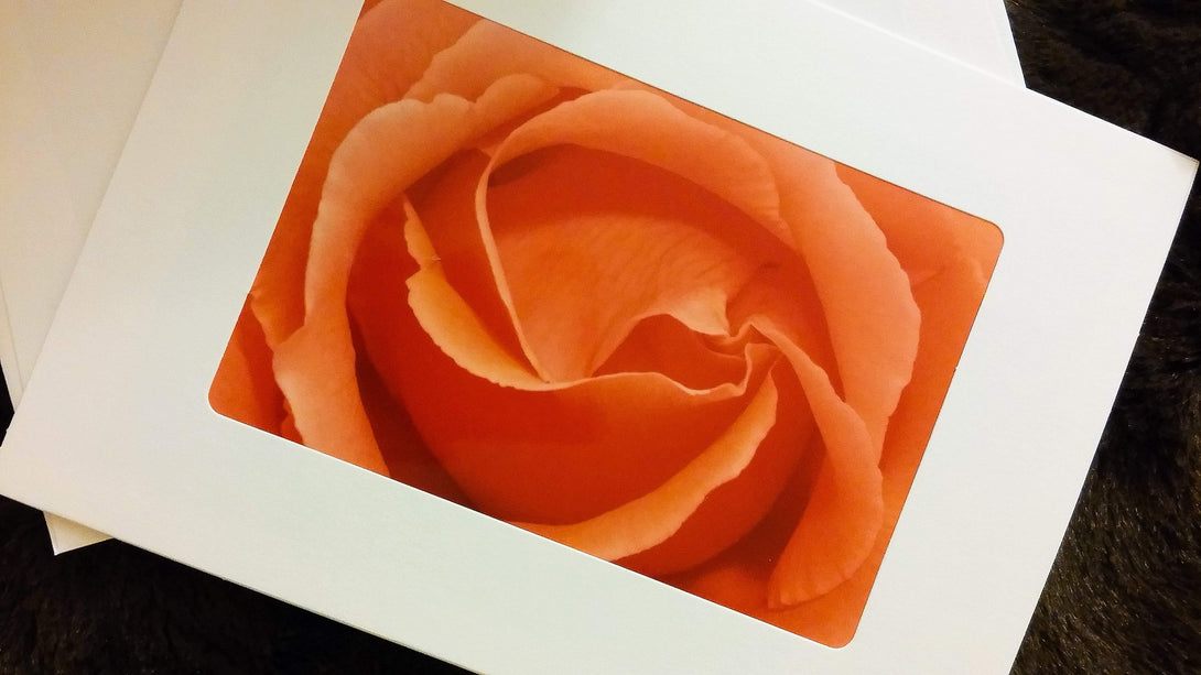Peach Rose Card-Greeting Cards/Prints-HRH Studio Boutique