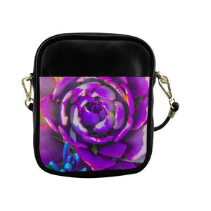 Purple delight Sling Bag Purse (Model 1627)-Purse,Bag,Messenger,Cross Body,Backpack-HRH Studio Boutique