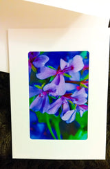Purple flowers Card-Greeting Cards/Prints-HRH Studio Boutique