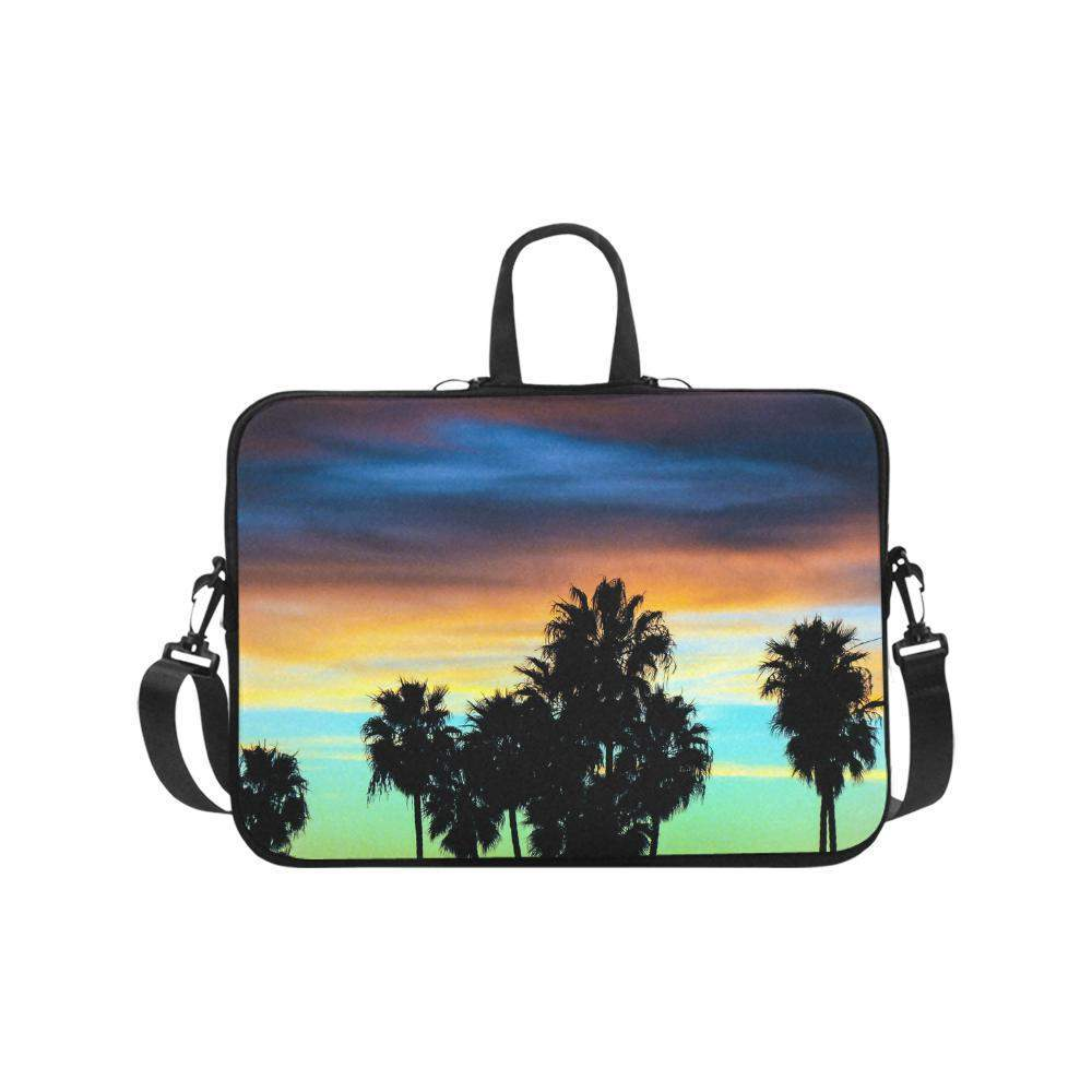 "Roof Top Palms Sunset Laptop Handbags 17""-Laptop Handbags 17""-HRH Studio Boutique"