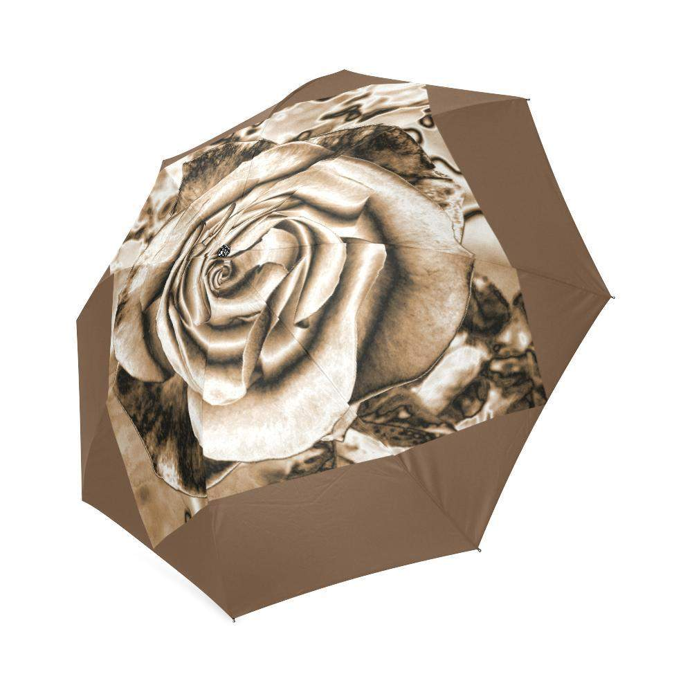 Sepia Rose umbrella Foldable Umbrella-Foldable Umbrella-HRH Studio Boutique