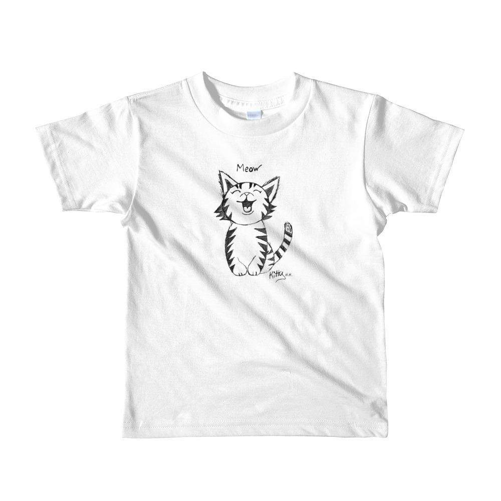 Short sleeve kids T-Shirt Unisex - Meow Kitty-T Shirts Youth - Unisex-HRH Studio Boutique