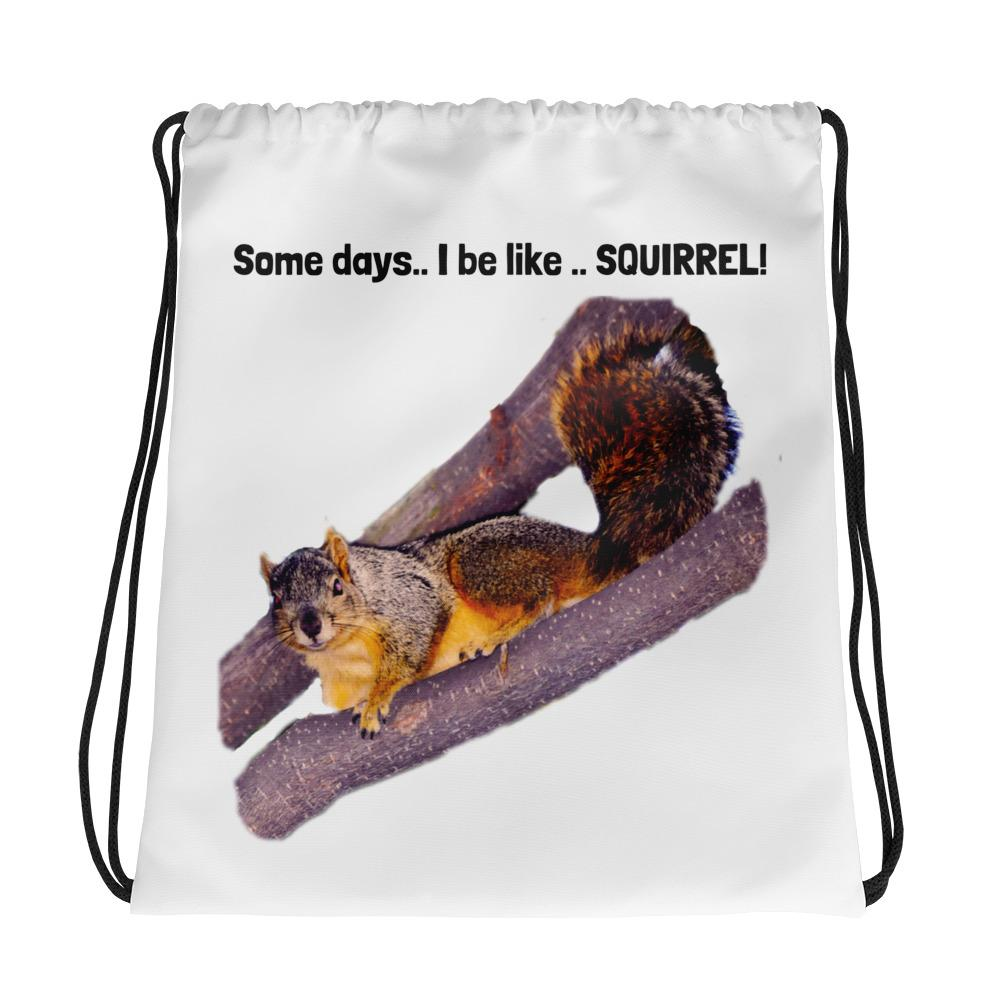 SQUIRREL Drawstring bag-Drawstring Bag/Backpack-HRH Studio Boutique