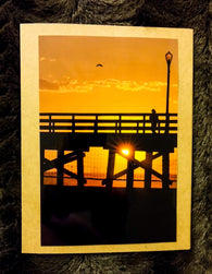 Sunset Pier Card-Greeting Cards/Prints-HRH Studio Boutique