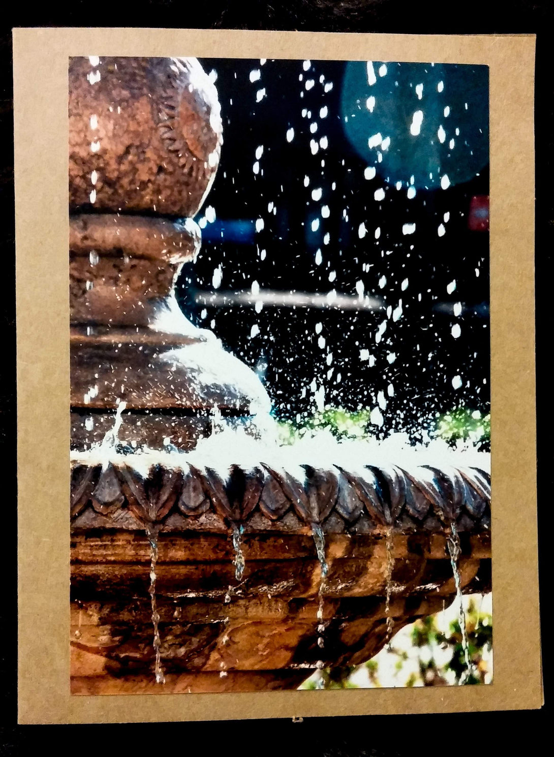 Water Fountain Card-Greeting Cards/Prints-HRH Studio Boutique