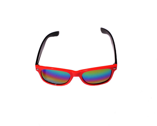 Red Black Wayfayer Rave Shades