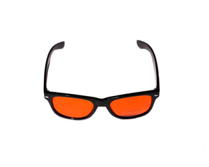 Orange Black Wayfayer Rave Shades