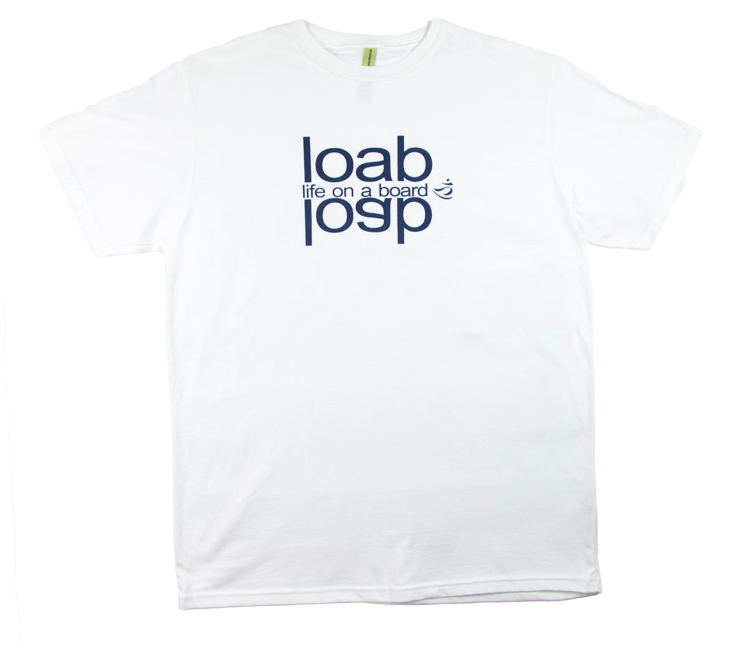 Life On A Board Reflect Tee White