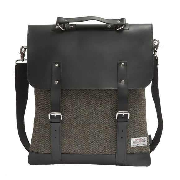 Enter Accessories Harris Tweed Messenger Tote Front