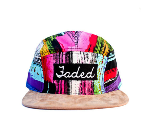 Faded Royalty <br> Paint Streak Suede 5 Panel