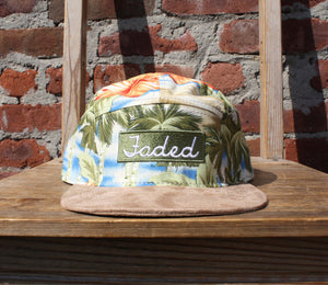 Faded Royalty <br> Paradise Flower 5 Panel Strapback