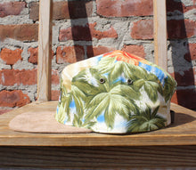 Load image into Gallery viewer, Faded Royalty <br> Paradise Flower 5 Panel Strapback