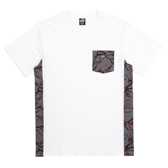 Rocksmith Sakura Pocket Tee White