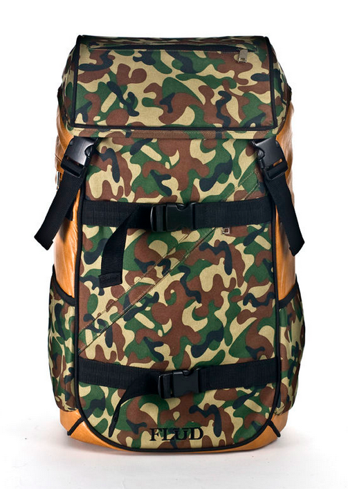 FLUD TECH BAG - FOREST CAMO FRONT