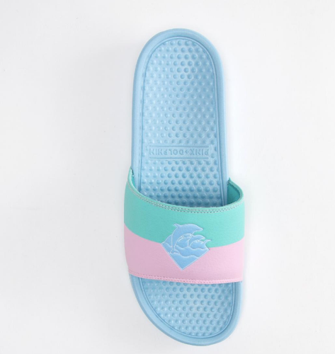 PINK DOLPHIN WAVES TWO TONE SLIDES
