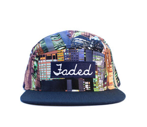 Faded Royalty <br> Skyline 5 Panel Strapback