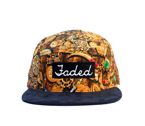 Faded Royalty <br> Treasure 5 Panel Strapback