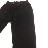 D9 Reserve <br> Drop Crotch Biker Sweatpants in Black