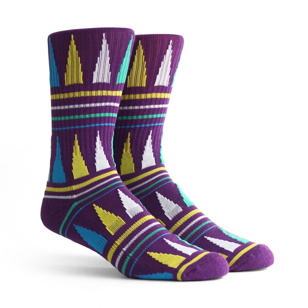 Richer Poorer Swindler Athletic Socks in Purple